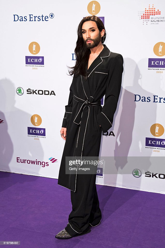 Conchita Wurst attends the Echo Award 2016 on April 7, 2016 in Berlin, Germany.