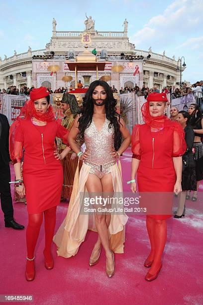 Conchita Wurst attends the 'Life Ball 2013 Magenta Carpet Arrivals' at City Hall on May 25 2013 in Vienna Austria