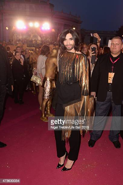 Conchita Wurst attends the Life Ball 2015 at City Hall on May 16 2015 in Vienna Austria