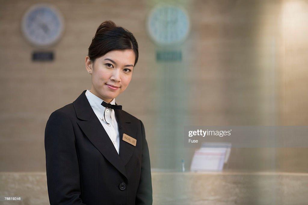 Concierge at Hotel Front Desk