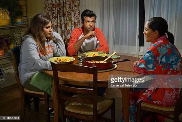 PROJECT 'Concord' Episode 506 Pictured Mindy Kaling as Mindy Lahiri Utkarsh Ambudkar as Rishi Lahiri Sakina Jaffrey as Sonu Lahiri