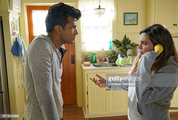 PROJECT 'Concord' Episode 506 Pictured Utkarsh Ambudkar as Rishi Lahiri Mindy Kaling as Mindy Lahiri