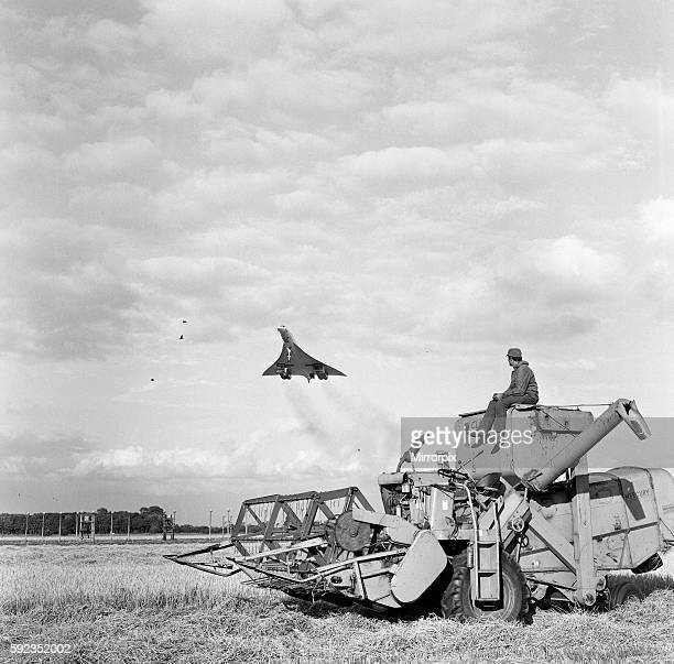 Concorde lands at RAF Fairfield after successful test flight of new engines breaking sound barrier 14th August 1970