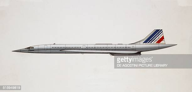 Concorde supersonic transport France drawing