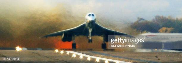 Concorde takes off from London Heathrow airport on route to Cardiff 23 October 2003 Concorde is completing its weeklong UK tour before being retired...
