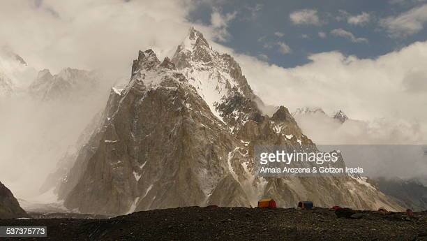 Concordia camp site and Gasherbrum V