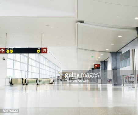 Concourse at airport terminal : Stock Photo