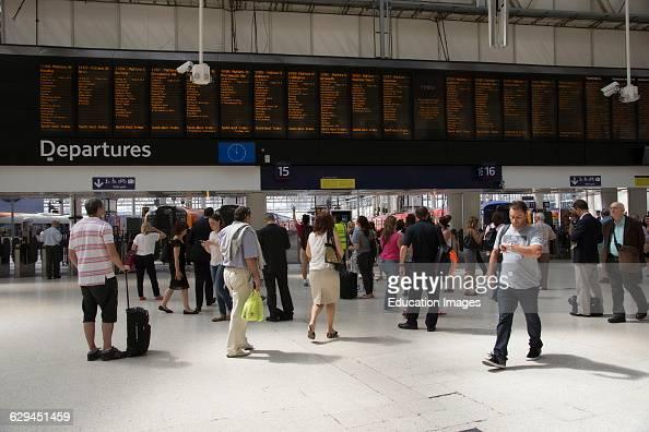 Concourse of Waterloo Station London England UK