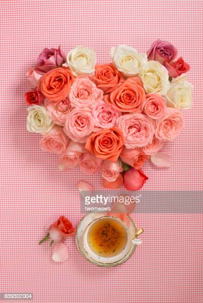 Concpetual flower tea image.
