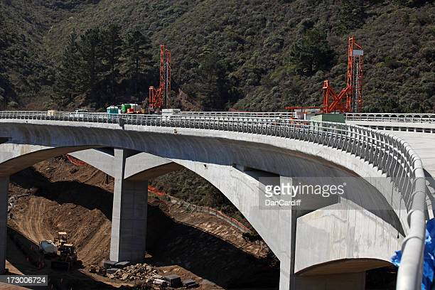 Concrete bridge under construction across fort valley