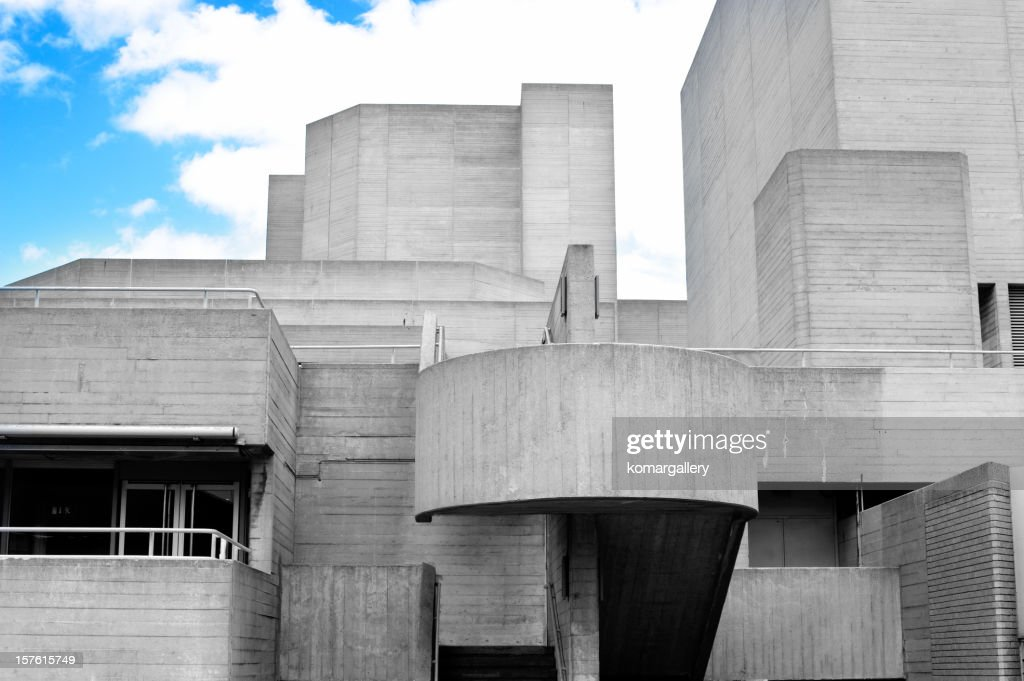 Concrete building stock photo getty images for Building a concrete house