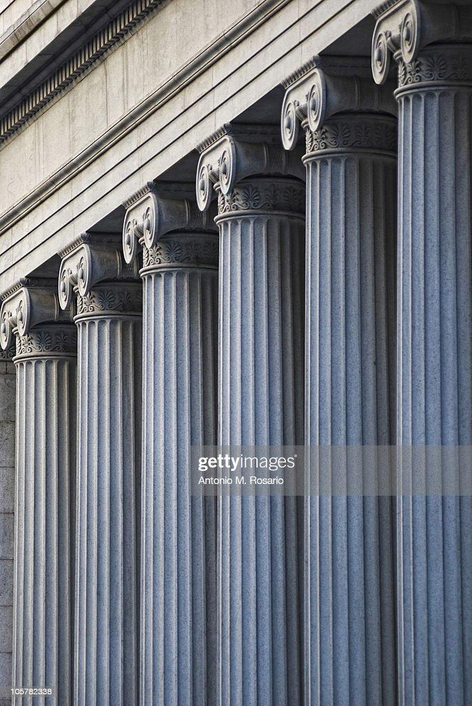 Concrete columns on building