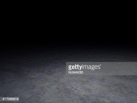 concrete floor with dark background : Stock Photo