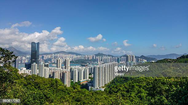 Concrete jungle surounded by the greenery, Hong Kong