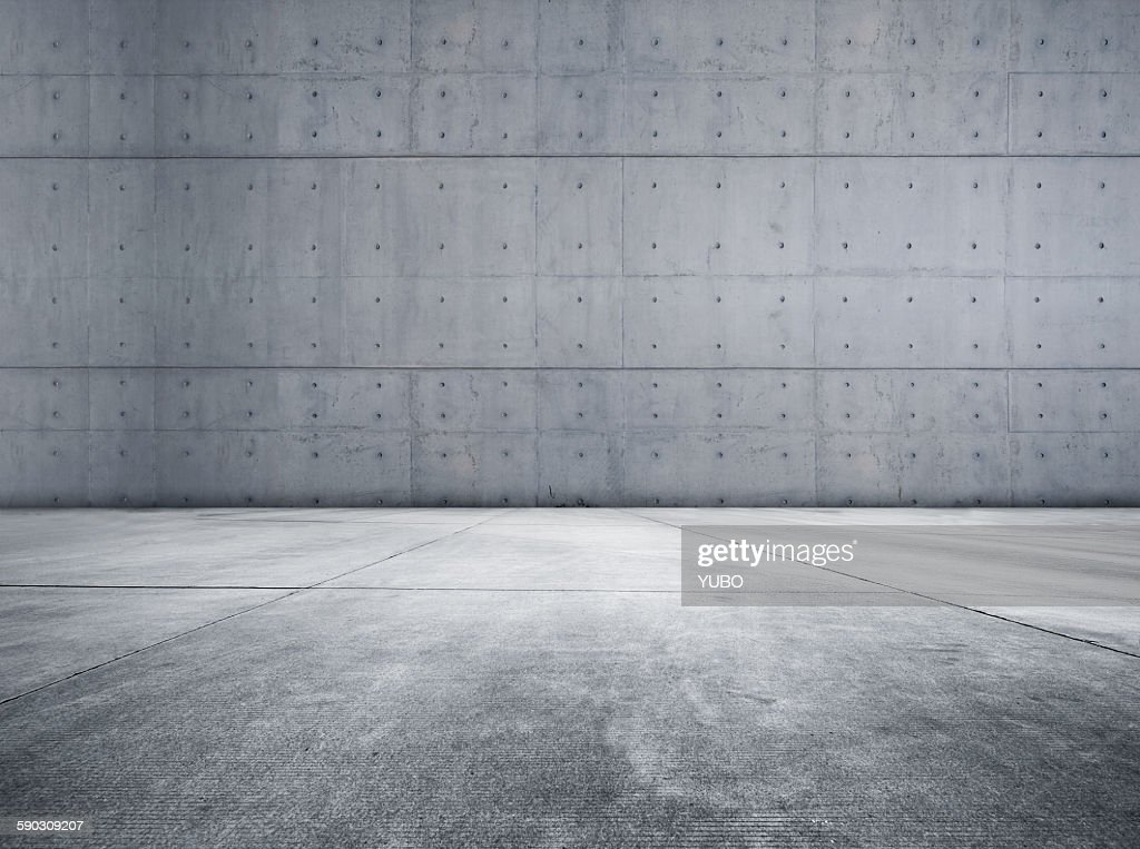 Concrete parking lot