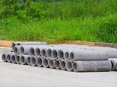 Concrete pipe laying