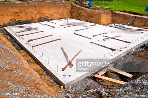 Concrete Slab For A New Home Stock Photo Getty Images