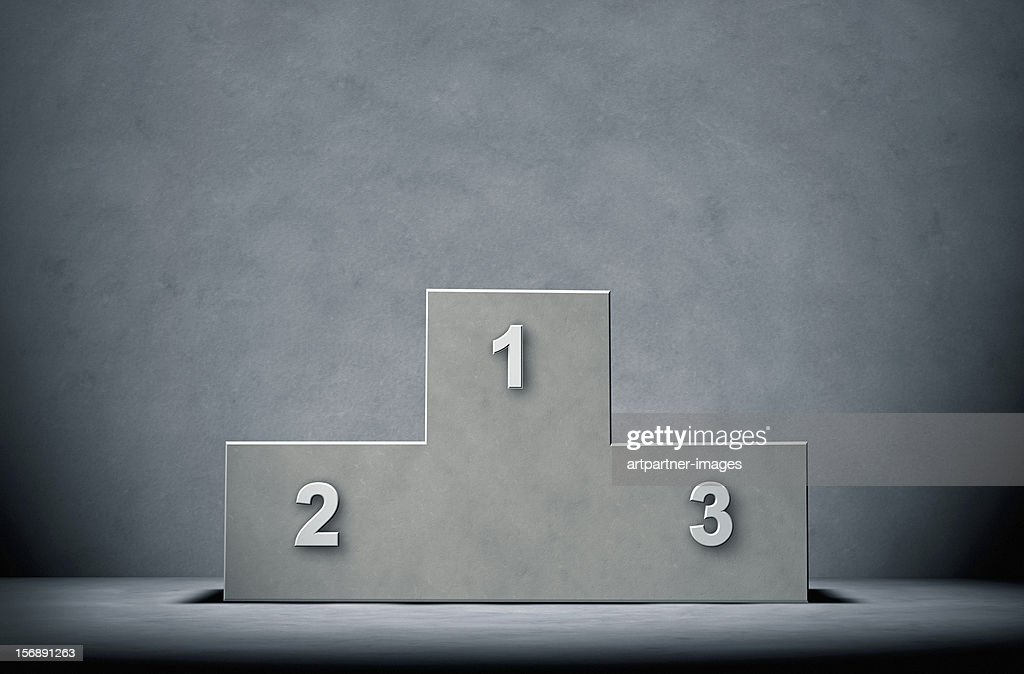 Concrete Winners Podium on a concrete Background