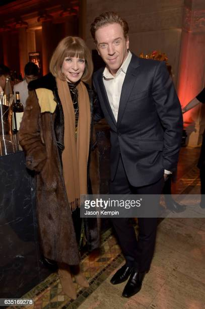 Conde Nast artistic director and Vogue editorinchief Anna Wintour and actor Damian Lewis attend the Showtime and Elit Vodka hosted BILLIONS Season 2...