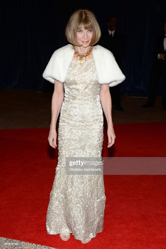 Conde Nast Artistic Director Anna Wintour attends the White House Correspondents' Association Dinner at the Washington Hilton on April 27, 2013 in Washington, DC.