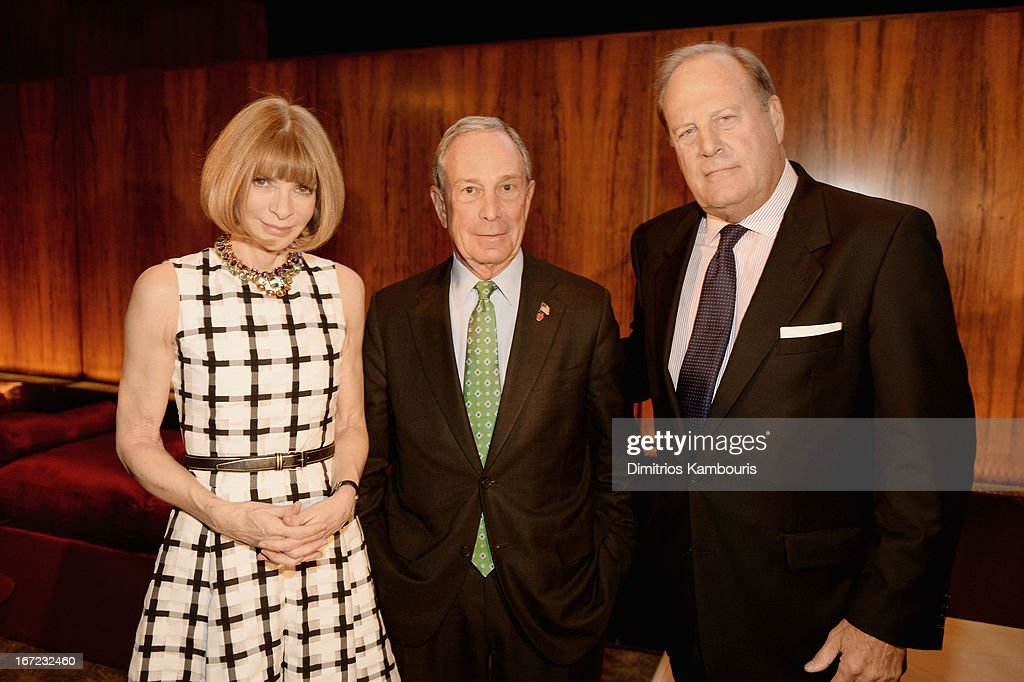 Conde Nast artistic director <a gi-track='captionPersonalityLinkClicked' href=/galleries/search?phrase=Anna+Wintour&family=editorial&specificpeople=202210 ng-click='$event.stopPropagation()'>Anna Wintour</a>, Mayor <a gi-track='captionPersonalityLinkClicked' href=/galleries/search?phrase=Michael+Bloomberg&family=editorial&specificpeople=171685 ng-click='$event.stopPropagation()'>Michael Bloomberg</a> and CEO of Conde Nast Chuck Townsend attend the Conde Nast Celebrates Editorial Excellence: Toast To Editors, Writers And Contributors on April 22, 2013 in New York City.