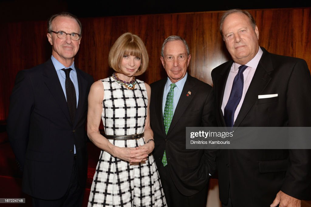 Conde Nast editorial director Thomas Wallace, Conde Nast artistic director <a gi-track='captionPersonalityLinkClicked' href=/galleries/search?phrase=Anna+Wintour&family=editorial&specificpeople=202210 ng-click='$event.stopPropagation()'>Anna Wintour</a>, Mayor <a gi-track='captionPersonalityLinkClicked' href=/galleries/search?phrase=Michael+Bloomberg&family=editorial&specificpeople=171685 ng-click='$event.stopPropagation()'>Michael Bloomberg</a> and CEO of Conde Nast Chuck Townsend attend the Conde Nast Celebrates Editorial Excellence: Toast To Editors, Writers And Contributors on April 22, 2013 in New York City.