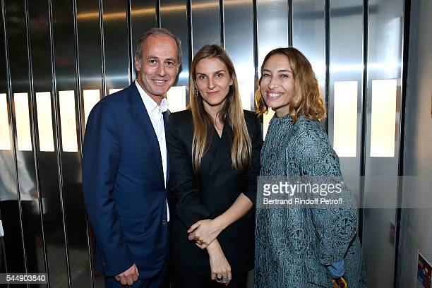 CEO Condenast France Xavier Romatet Creative director of the Italian jewellery brand Repossi Gaia Repossi and Alexandra Golovanoff attend the Repossi...