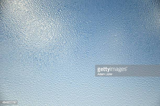Condensation on blue window