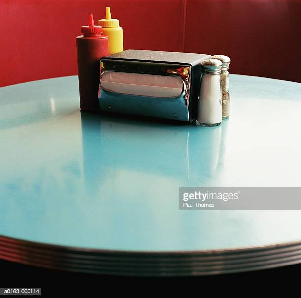 Condiments on Diner Table
