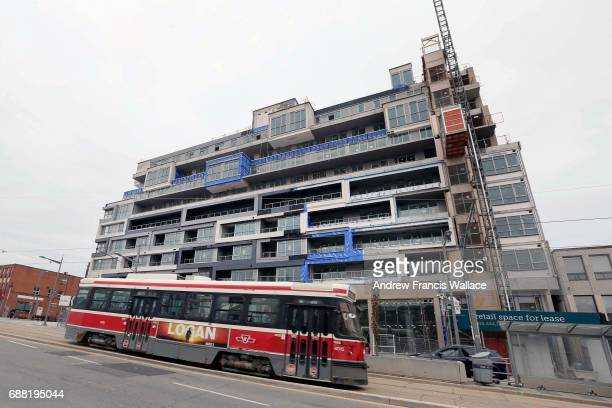 TORONTO ON FEBRUARY 28 Condo and commercial development under on St Clair Ave near Winona Dr February 28 2017
