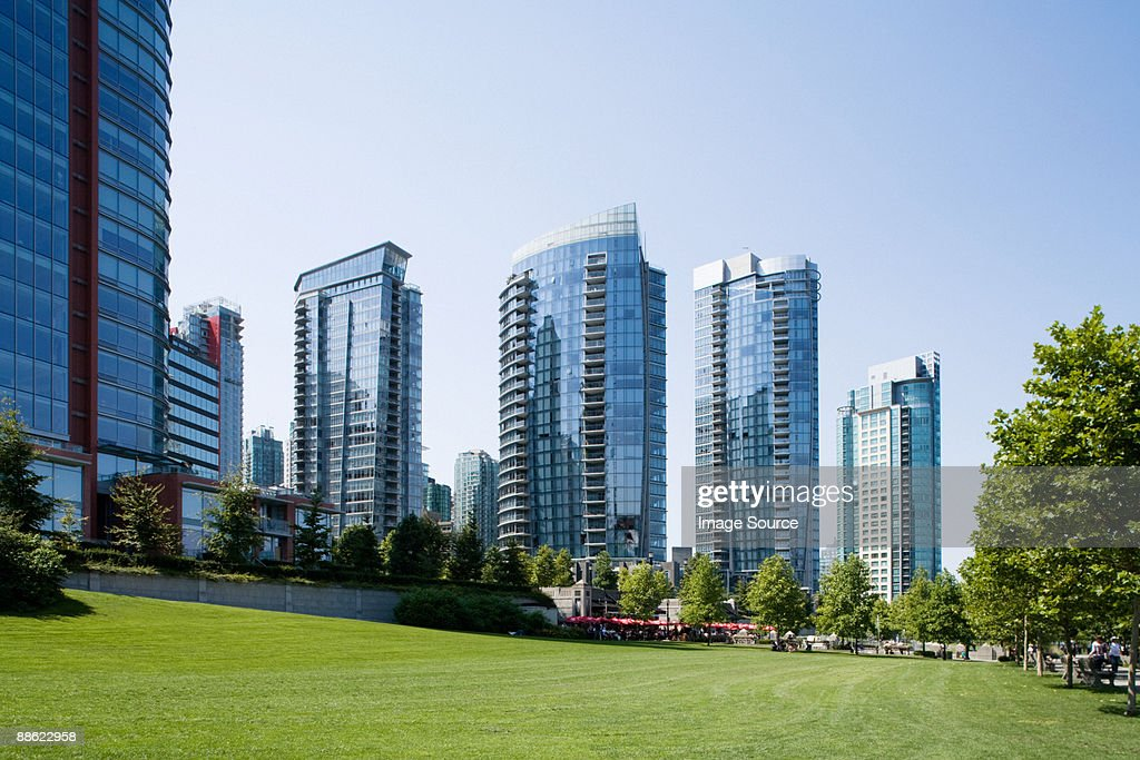 Condo towers in vancouver : Stock Photo