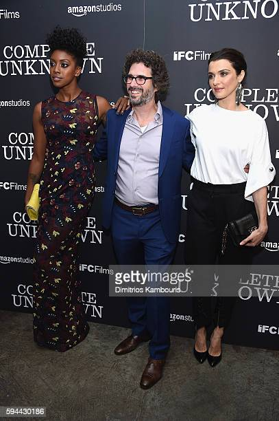 Condola Rasha Screenwriter Joshua Marston and Rachel Weisz attend the 'Complete Unknown' New York Premiere at Metrograph on August 23 2016 in New...