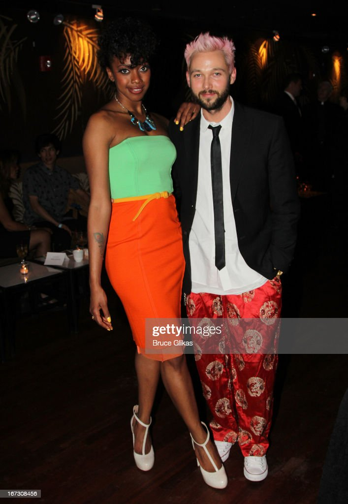Condola Rashad and fashion designer Chris Benz attend the after party for the Broadway opening night of 'The Trip To Bountiful' at The Copacabana on April 23, 2013 in New York City.