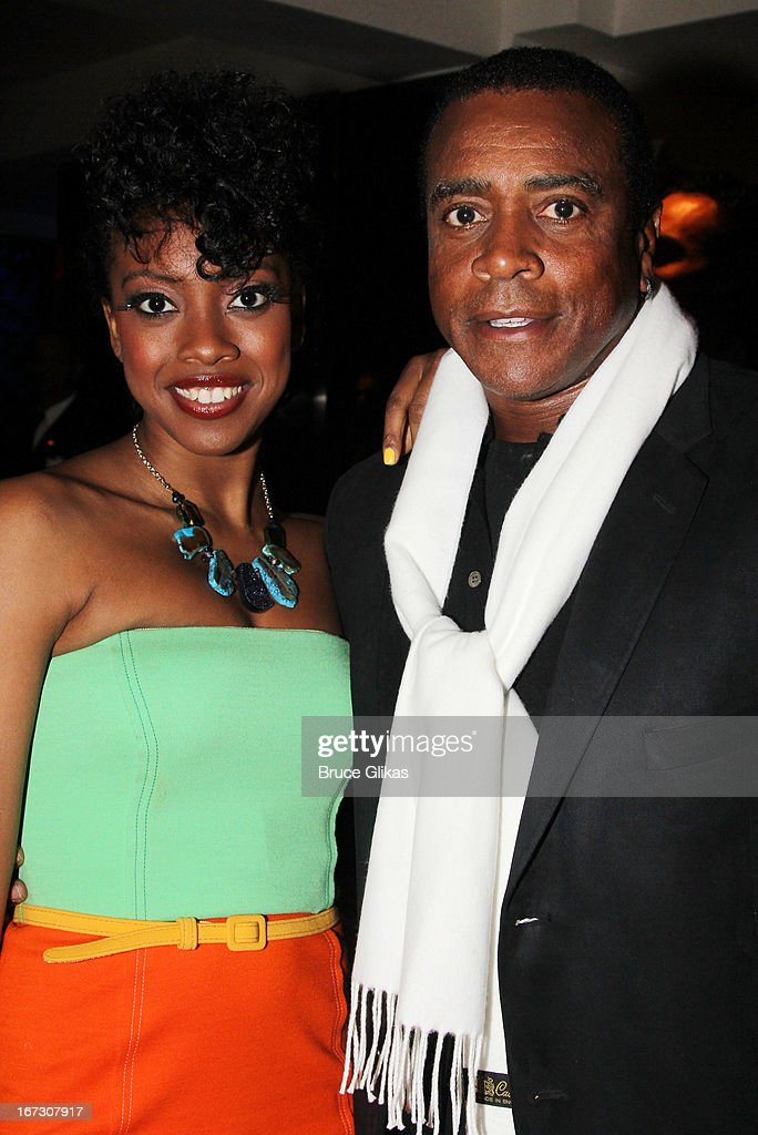 Condola Rashad and father <a gi-track='captionPersonalityLinkClicked' href=/galleries/search?phrase=Ahmad+Rashad&family=editorial&specificpeople=228301 ng-click='$event.stopPropagation()'>Ahmad Rashad</a> attend the after party for the Broadway opening night of 'The Trip To Bountiful' at The Copacabana on April 23, 2013 in New York City.
