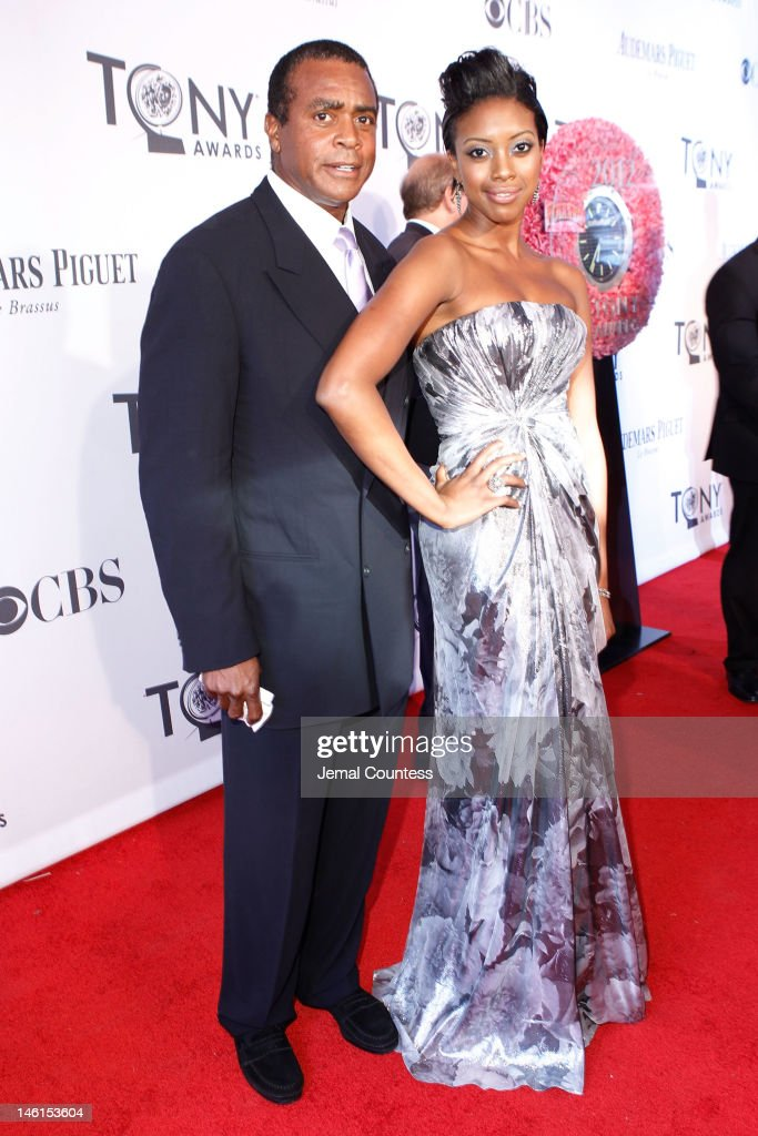 Condola Rashad and guest attends the 66th Annual Tony Awards at The Beacon Theatre on June 10, 2012 in New York City.