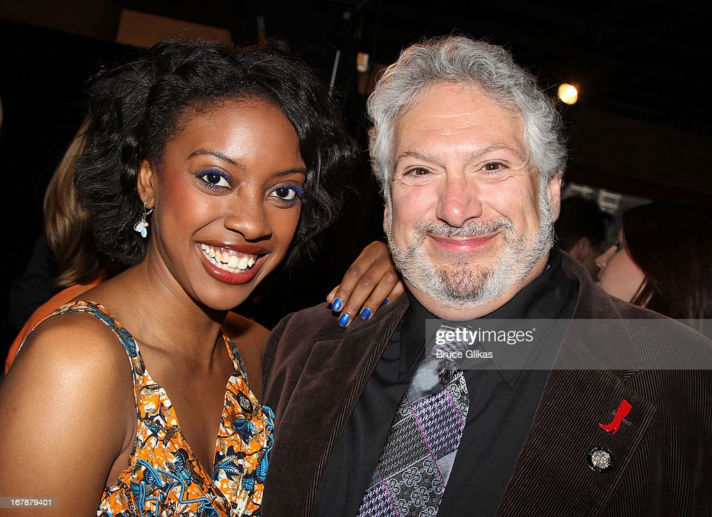 Condola Rashad and Harvey Fierstein attend the 2013 Tony Awards: The Meet The Nominees Press Junket at the Millenium Hilton on May 1, 2013 in New York City.