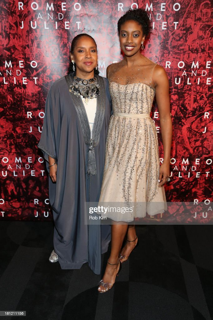 Condola Rashad and Phylicia Rashad attend 'Shakespeare's Romeo And Juliet' Broadway opening night after party at The Edison Ballroom on September 19...