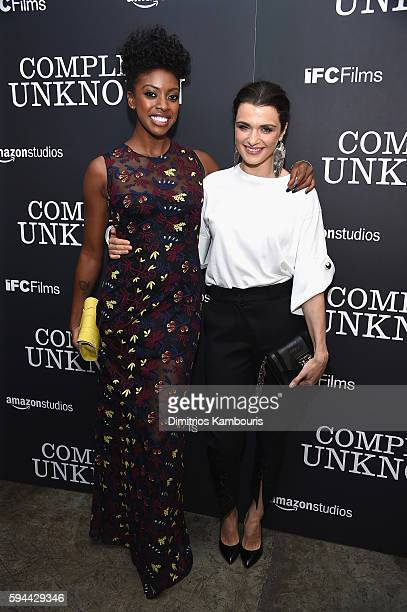 Condola Rashad and Rachel Weisz attend the 'Complete Unknown' New York Premiere at Metrograph on August 23 2016 in New York City