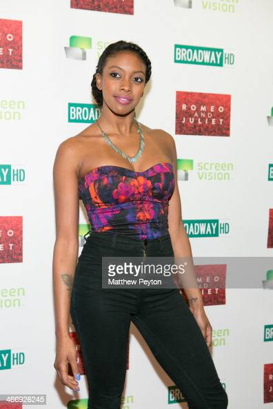 Condola Rashad arrives at the InTheater Premiere Of 'Romeo Juliet' at Clearview Chelsea Cinemas on February 4 2014 in New York City