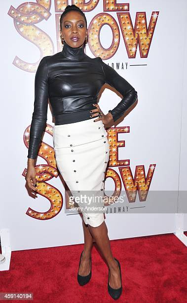 Condola Rashad attends opening night of 'Side Show' on Broadway at the St James Theatre on November 17 2014 in New York City