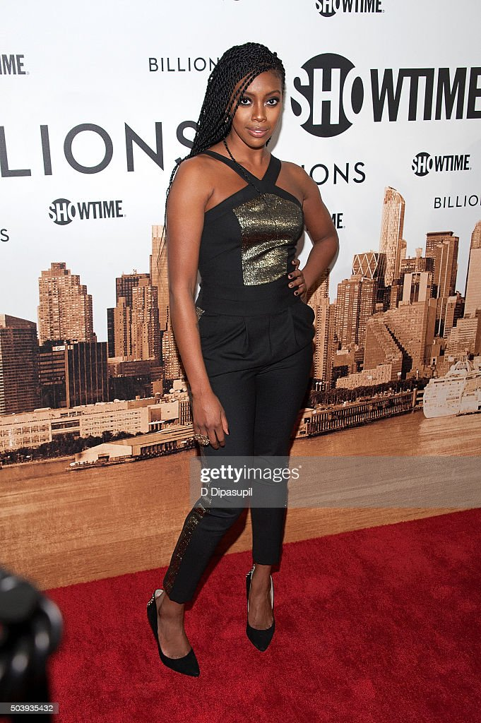 Condola Rashad attends the 'Billions' series premiere at the Museum of Modern Art on January 7 2016 in New York City
