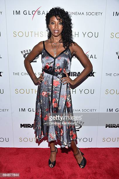 Condola Rashad attends the Cinema Society screening of 'Southside With You' hosted by Miramax Roadside Attractions and IM Global at Landmark's...