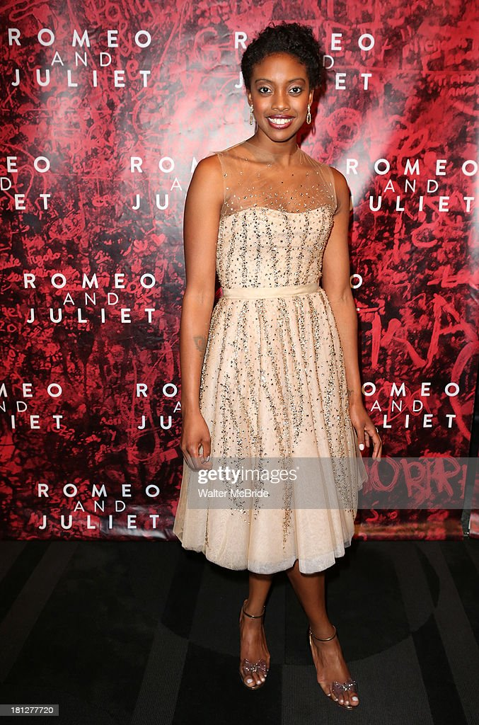 Condola Rashad attends the 'Romeo And Juliet' Broadway Opening Night after party at The Edison Ballroom on September 19 2013 in New York City