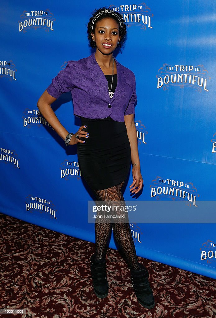 Condola Rashad attends the 'The Trip To Bountiful' Broadway Cast Photocall at Sardi's on March 11, 2013 in New York City.
