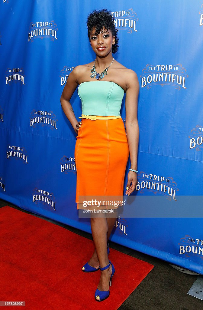 Condola Rashad attends the 'The Trip To Bountiful' Broadway Opening Night after party at Copacabana on April 23, 2013 in New York City.