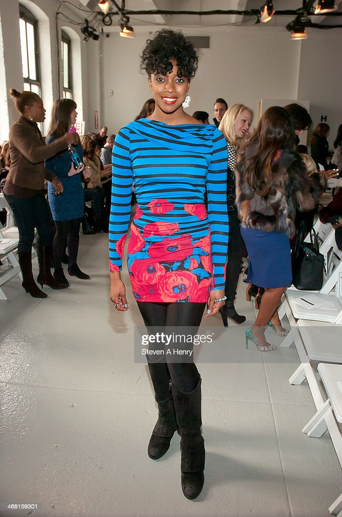 Condola Rashad attends the Tracy Reese show during MercedesBenz Fashion Week Fall 2014 at 547 West 26th Street on February 9 2014 in the Brooklyn...
