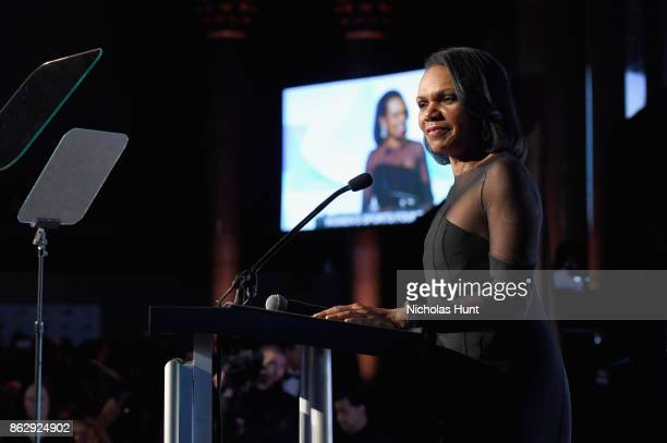 Condoleezza Rice attends The Women's Sports Foundation's 38th Annual Salute To Women in Sports Awards Gala on October 18 2017 in New York City