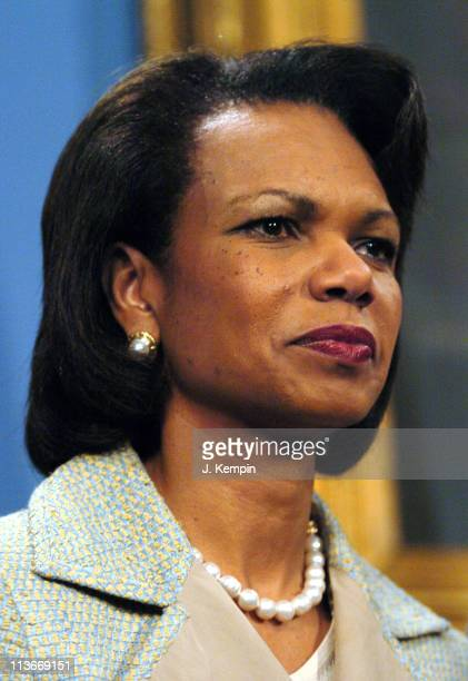 Condoleezza Rice during US Secretary of State Condoleezza Rice Joins NYC Mayor Bloomberg at SendOff Rally for New York Olympic Delegation at City...