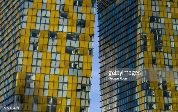 Condominium buildings at The Crystals luxury shopping mall in the CityCenter complex are viewed on May 31 2017 in Las Vegas Nevada Tourism in...