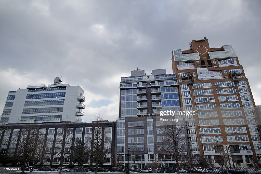 Condominiums stand on the edge of McCarren Park in the Brooklyn borough of New York, U.S., on Tuesday, Feb. 25, 2014. Home prices in the U.S. climbed at a slower pace in the year through December, pointing to a moderation in the market that will help keep more properties within reach for prospective buyers. Photograph: Victor J. Blue/Bloomberg via Getty Images